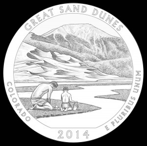 2014 Great Sand Dunes National Park Quarter and Coin Design