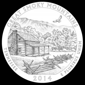 2014 Great Smoky Mountains National Park Quarter and Coin Design