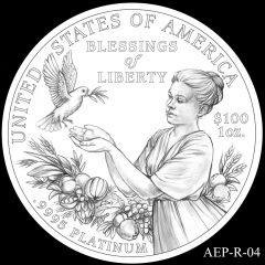 AEP-R-04 2014 American Platinum Eagle Design Candidate