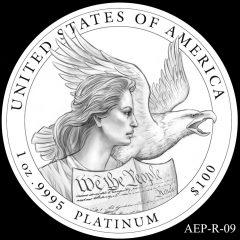AEP-R-09 2014 American Platinum Eagle Design Candidate