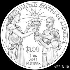 AEP-R-10 2014 American Platinum Eagle Design Candidate