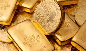 Bullion bars and gold coins
