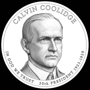 Calvin Coolidge Presidential $1 Coin Design