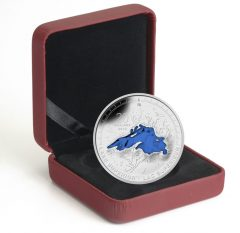Case and 2014 Lake Superior Silver Coin