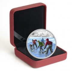 Case for 2014 Pond Hockey Silver Coin