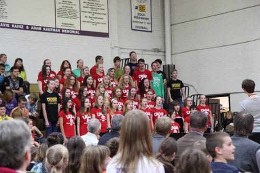 Custer school choir at Mount Rushmore Quarter Ceremony