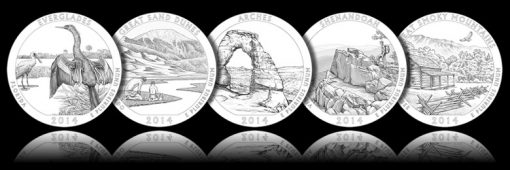 Designs for 2014 America the Beautiful Quarters and ATB Five Ounce Silver Coins