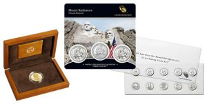 Edith Roosevelt Gold Coin, Mount Rushmore Quarters Set, ATB Quarters Circulating Coin Set