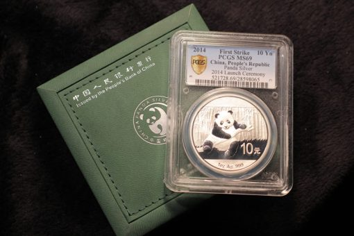 First 2014 Panda Silver Coin in PCGS Holder