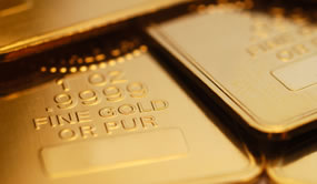 Four .9999 fine gold bars