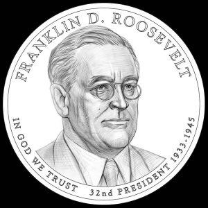 Franklin D. Roosevelt Presidential $1 Coin Design