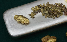 Gold Nuggets, Silver Bar