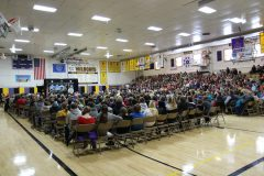 Gymnasium during Mount Rushmore Quarter Ceremony (a)