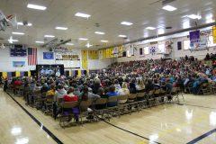 Gymnasium during Mount Rushmore Quarter Ceremony (a)