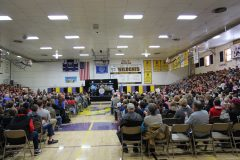 Gymnasium during Mount Rushmore Quarter Ceremony (b)