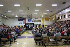 Gymnasium during Mount Rushmore Quarter Ceremony (b)