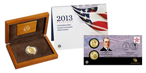 Ida McKinley Gold Coins, Annual $1 Set, and $1 Coin Cover