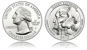 Mt. Rushmore 5 Oz Silver Bullion Coin
