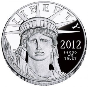 Obverse of American Platinum Eagle