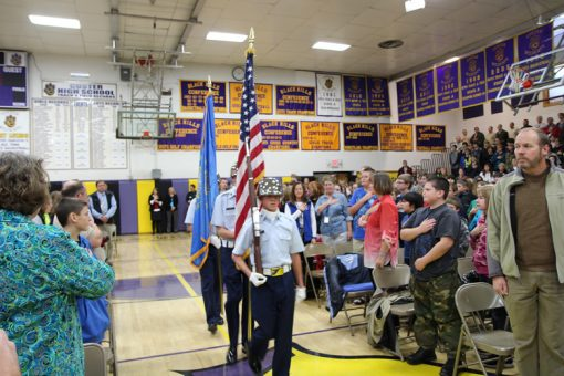 Presentation of the colors by the Civil Air Patrol Mount at Rushmore Quarter Ceremony