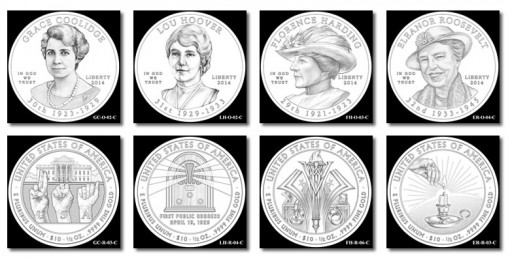Recommended Design Candidates for 2014 First Spouse Gold Coins