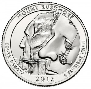 Reverse Side of Mount Rushmore Quarter