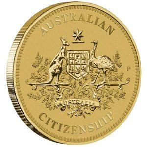 Reverse of Australian Citizenship 2014 $1 Coin