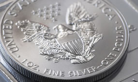 Silver Eagle Bullion Coin and Bar