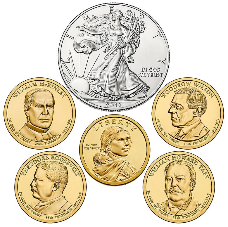 2013 D Woodrow Wilson Presidential Dollar Coin Uncirculated Denver BU