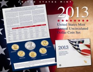 US Mint 2013 Annual Uncirculated Dollar Coin Set