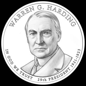 Warren G. Harding Presidential $1 Coin Design