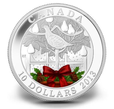 2013 $10 A Partridge In A Pear Tree Fine Silver Coin