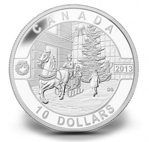 2013 $10 Holiday Season Fine Silver Coin