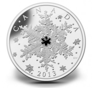 2013 $20 Winter Snowflake Fine Silver Coin