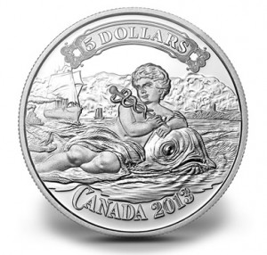 2013 $5 Canadian Bank of Commerce Silver Coin