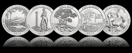 2013 America the Beautiful 5 oz Silver Coins
