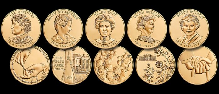 2013 First Spouse Bronze Five-Medal Set