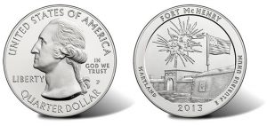 2013-P Fort McHenry Silver Uncirculated Coin