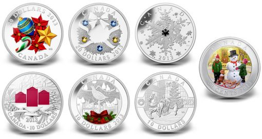 2013 Royal Canadian Mint Holiday Coins
