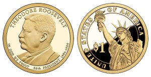 2013-S Proof Theodore Roosevelt Presidential $1 Coin