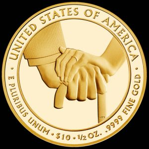 2013-W $10 Proof Edith Wilson First Spouse Gold Coin - Reverse