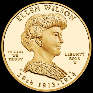 2013-W $10 Proof Ellen Wilson First Spouse Gold Coin - Obverse