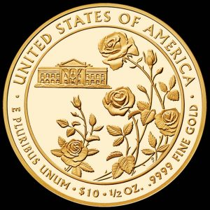2013-W $10 Proof Ellen Wilson First Spouse Gold Coin - Reverse