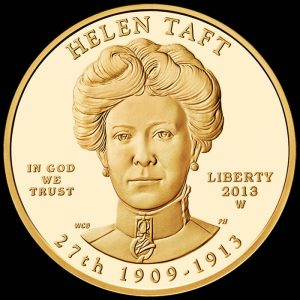 2013-W $10 Proof Helen Taft First Spouse Gold Coin - Obverse