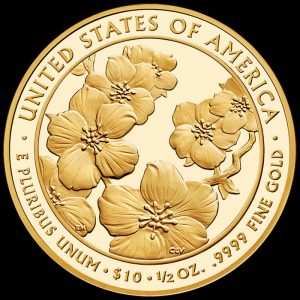 2013-W $10 Proof Helen Taft First Spouse Gold Coin - Reverse