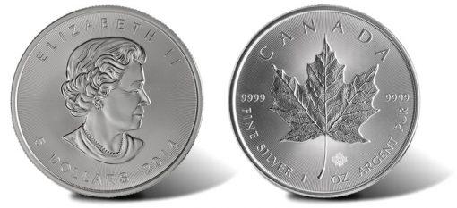 2014 $5 Silver Maple Leaf Bullion Coin