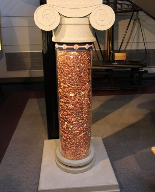 Cent Column in Public Tour at US Mint at Denver