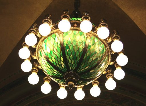 Chandeliers made by Mitchell Vance Co