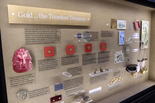 History of gold, display at Denver Mint