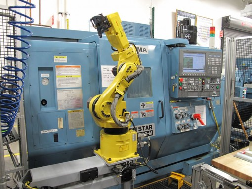Robot Arm in Denver Mint Die Shop